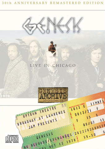 Genesis Live in Chicago 10.13.1978 2CD Set