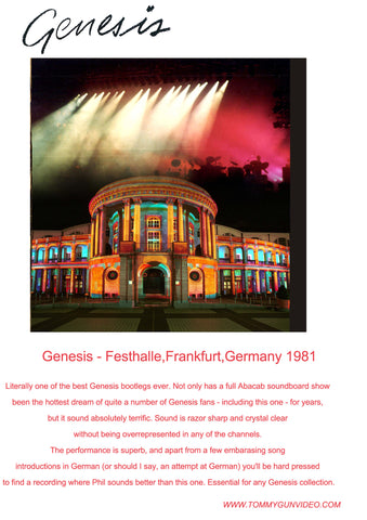 Genesis Live in Frankfurt, Germany - Oct. 30, 1981 2CDr Set