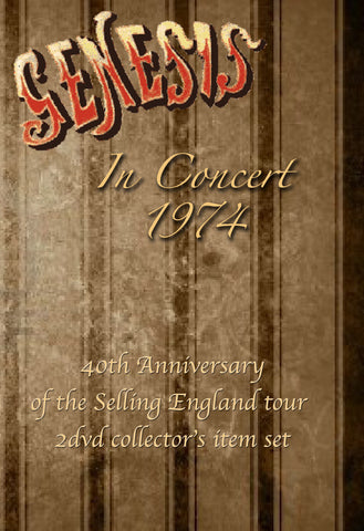 Genesis In Concert 1974 Selling England Tour 2DVD Set