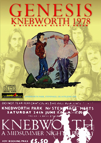 Genesis Live At Knebworth 1978 2Cdr Set w/Quadraphonic Sound