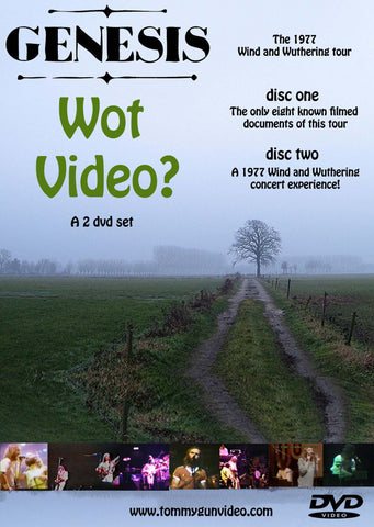 Genesis - Wot Video? Wind and Wuthering tour 1977 2DVD Set