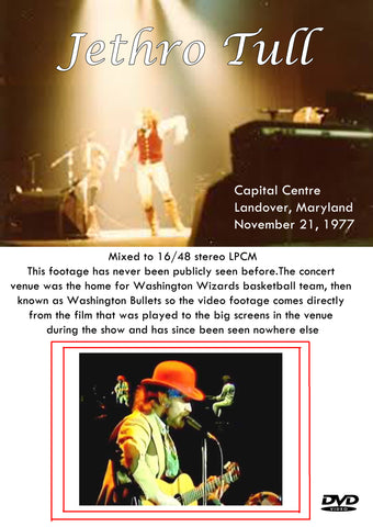 Jethro Tull - Capital Center, Landover, Maryland November 21 1977 2DVD Set