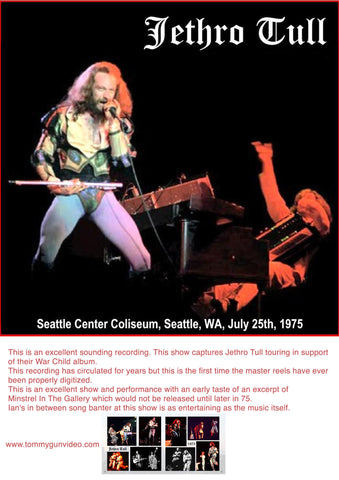 Jethro Tull Live In Seattle 7-25-1975