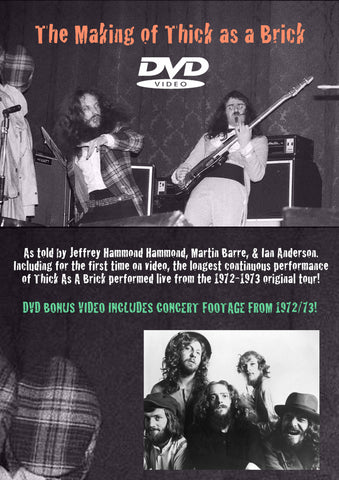 Jethro Tull - The Making Of Thick As A Brick DVD