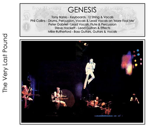 Genesis - Academy Of Music, NYC, NY - May 6, 1974