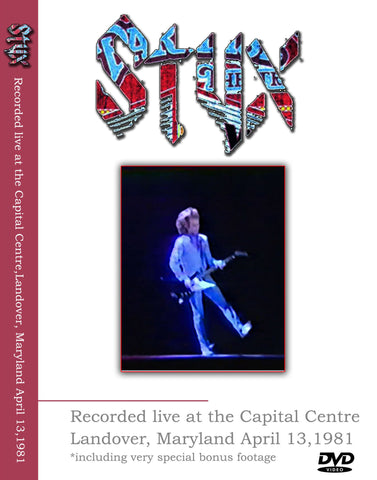 Styx Live At The Capital Centre April 13, 1981 2DVD Set