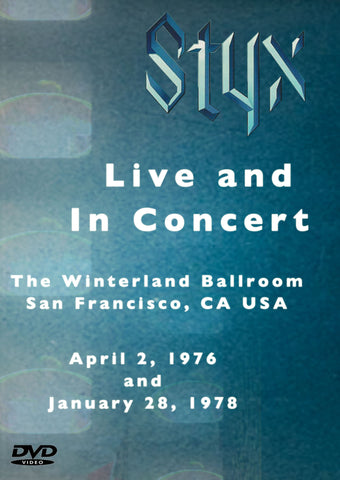 Styx Live And In Concert 1976-1978 2DVD Set