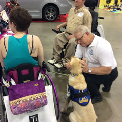 HDS Medallion Owner Visits With Service Dog at Chicago Abilities Expo