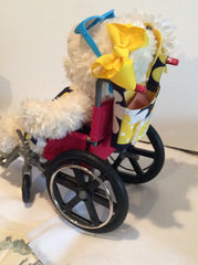 Hazel with Her Daisy Wheelchair Bag | HDS Medallion
