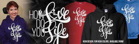 3 elove has great t-shirts and sweatshirts for disabled | HDS Medallion Supports Them