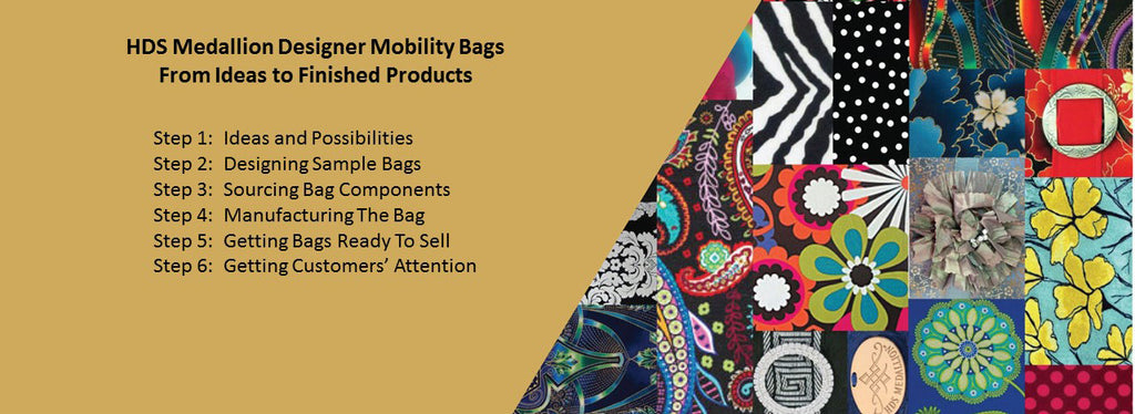 HDS Medallion Design Process for Designer Mobility Bags