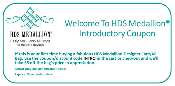HDS Medallion Introductory Discount For Mobility Bags
