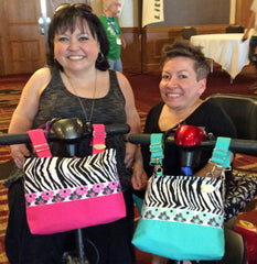 LPA Friends Enjoy HDS Medallion Zebra Bags On Their Mobility Scooters