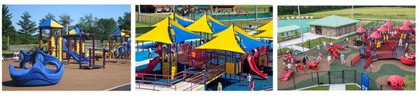 These playgrounds are like an HDS Medallion CarryAll bag... stylish AND functional!