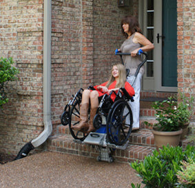 Mobility Lifter Helps Wheelchair and Power Chair Users Navigate Steps and Stairs