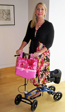 A woman using an HDS Medallion disability aid.