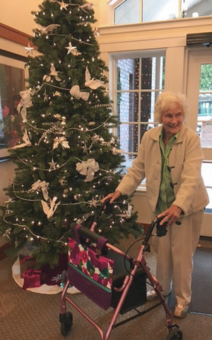 Villa Siena Resident Shows Off Her HDS Medallion Bag at Christmas 2016
