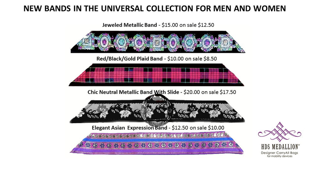New Universal Band Additions | HDS Medallion Bags for Wheelchairs for Men and Women