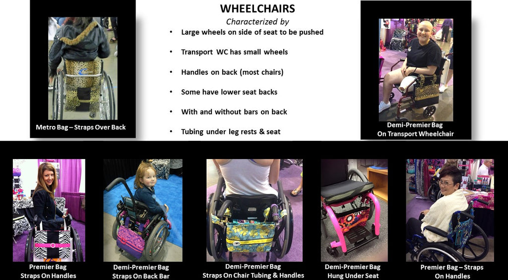 Wheelchairs with HDS Medallion Bags - A Demonstration