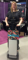 Kat showing off how great an HDS Medallion Designer CarryAll Bag looks on the TEK RMD!