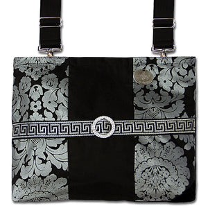 Sop[histicated Premier Black Damask Wheelchair Bag | HDS Medallion