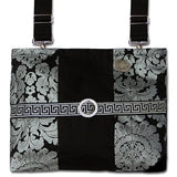 Classic Silver & Onyx Damask HDS Medallion Mobility Bag