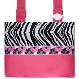 Zebra Daisy Dot Pink For Wheelchairs & Walkers