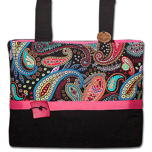 844bc5169f9 Classic Paisley Punch Pink Bag Is So Popular On Walkers - Pops With Black  Background