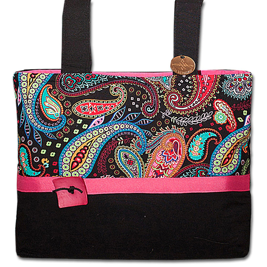 Classic Paisley Punch Pink Walker Bag  | HDS Medallion