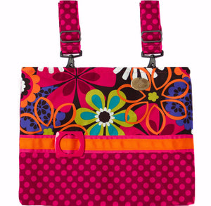 Espresso Flower Shower Wheelchair Bag | HDS Medallion