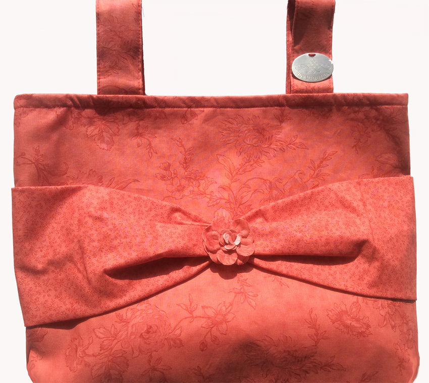 Classic Coral Floral HDS Medallion Walker Bag Is Uniquely Stylish!