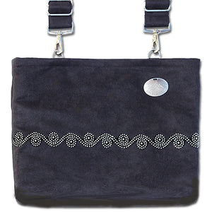 Black Suede Scroll Demi-Premier Bag | HDS Medallion