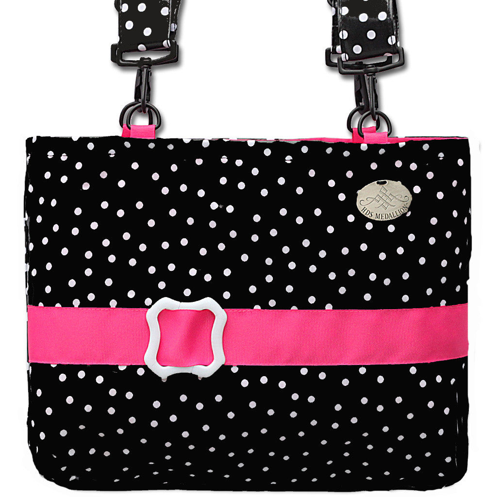 Waterproof Jet Polka Dot Mobility Bag  | HDS Medallion