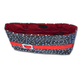 Demi-Premier Waterproof Jet Black Polka Dot - Red Trim - Fun Mobility Bag!