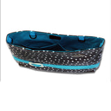 Demi-Premier Waterproof, Fun Black Polka Dot With Turquoise Ribbon