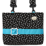 Black Polka Dot Bag for Walkers and Chairs Has Waterproof Fabric