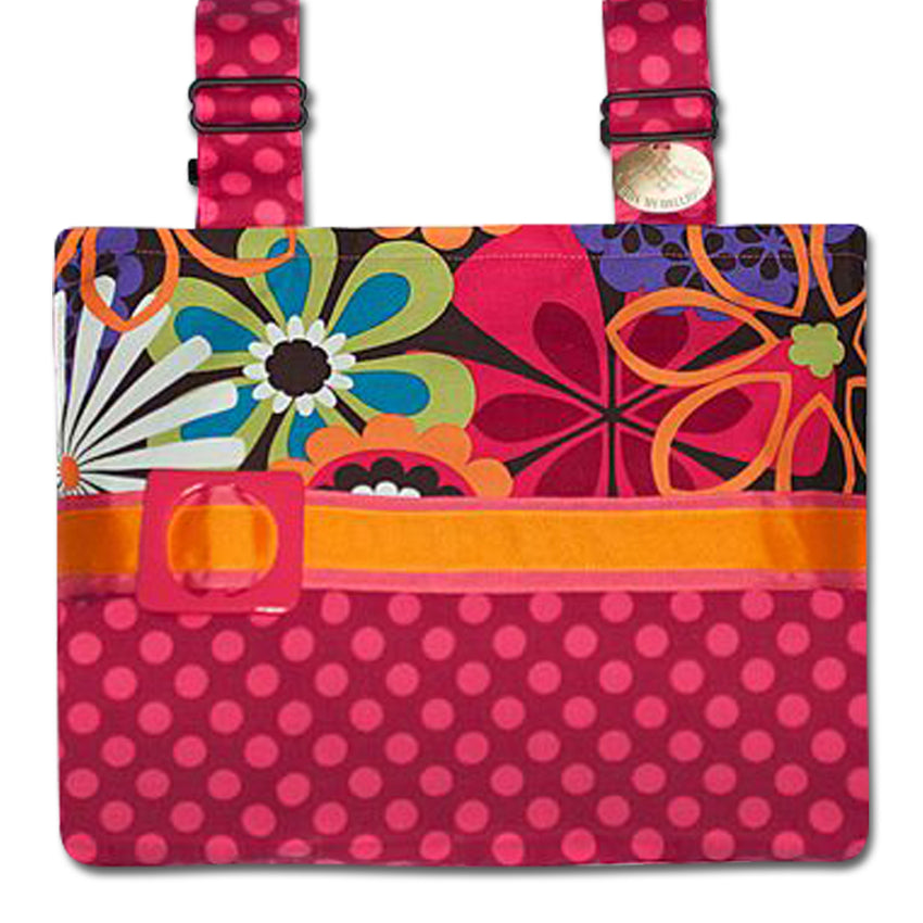 Classic Espresso Flower Shower Bag - An Explosion of Colors For Your Mobility Device