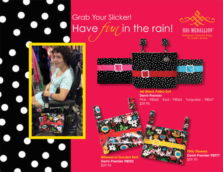 HDS Medallion's waterproof bags let you spread joy even in the rain!
