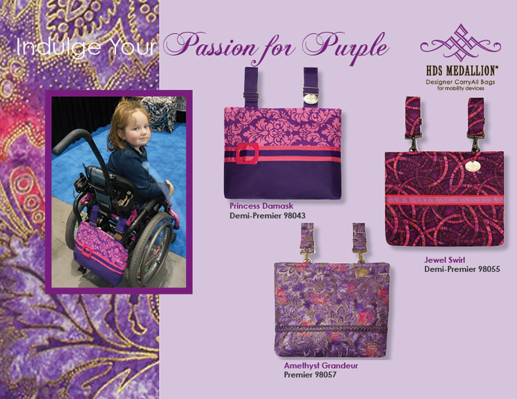We responded to your requests for purple bags and pashminas!