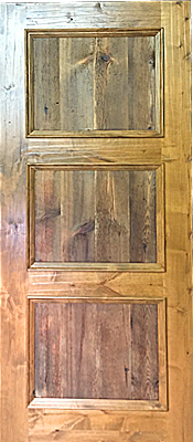 Knotty Alder - 3 panel - Barn wood - Finished
