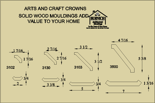 Arts & Craft Crown Mouldings 1