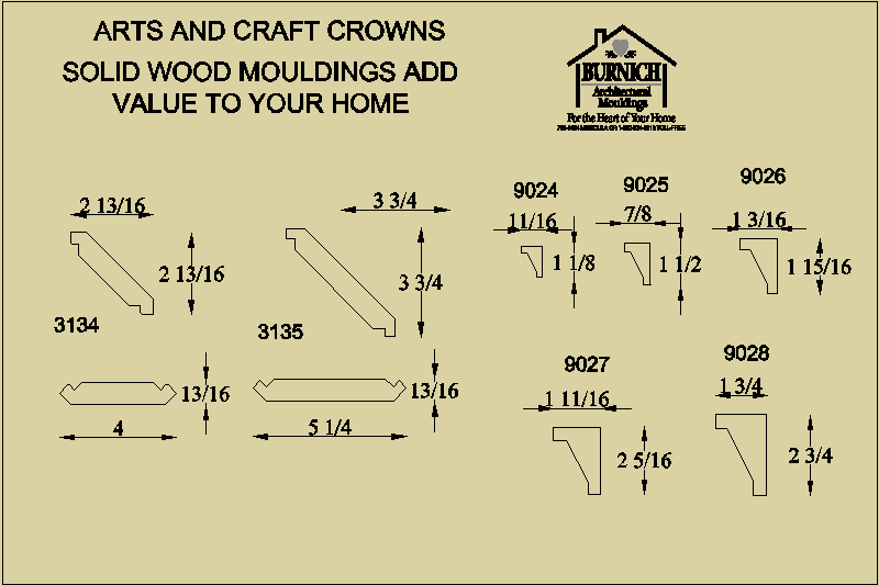 Arts & Crafts Crown Moulding 2