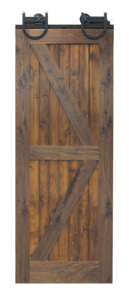 Rustic Walnut - Barn Door - Alder panels - Finished
