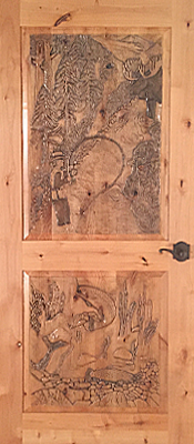 Knotty Alder - Carved - 2 panel - Finished