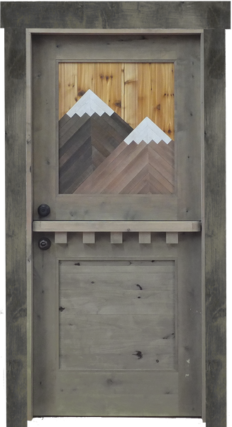 Dutch Door with Mountain Inlay