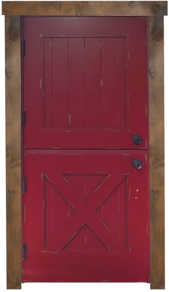 Painted and Distressed Dutch Door