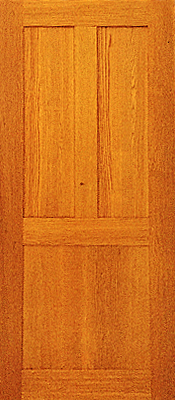 Oak - Qtr sawn - 3 panel -Wire Brush - Finished
