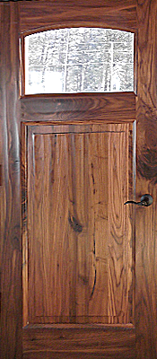 Rustic Walnut - Single panel - Single lite - Finished