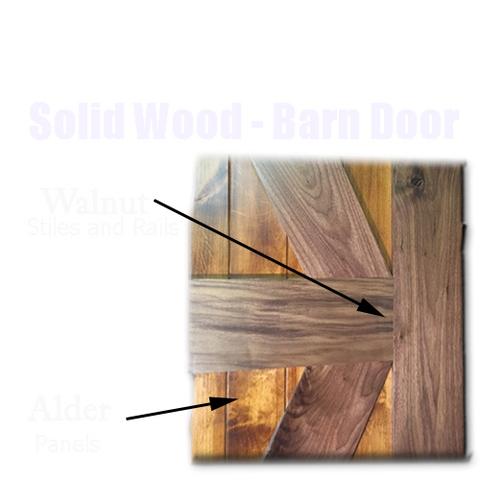 Rustic Walnut - Barn Door