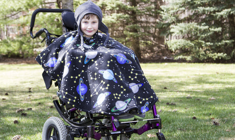 Wheelchair Capes--Double Weight - Wrapt - 1